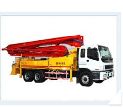 海诺49m臂架式混凝土泵车高清图 - 外观