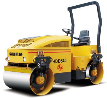 国机洛建HDD640双钢轮压路机高清图 - 外观