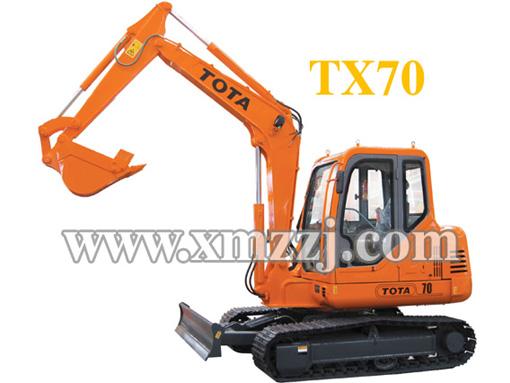 厦装TX70挖掘机高清图 - 外观