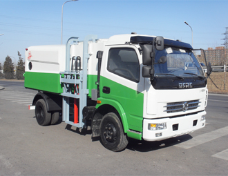 亚洁BQJ5080ZZZE型自装卸挤压式垃圾车高清图 - 外观