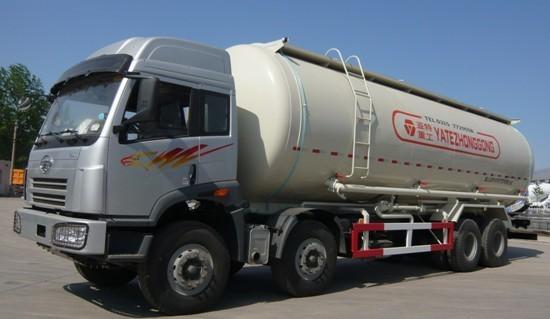 亚特重工TZ5312GFLC7E解放散灰40立方粉粒物料运输车