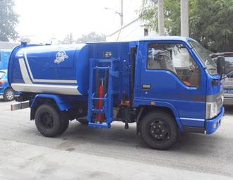 亚洁BQJ5050ZZZQ自装卸式垃圾车高清图 - 外观