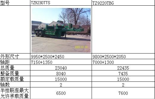 亞特重工TZ9220TBG鐵水運輸半掛車