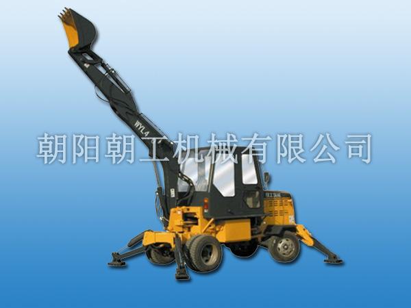 朝工WYL4.0轮式液压挖掘机高清图 - 外观