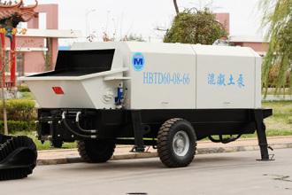 圆友重工HBTD60混凝土柴油机输送泵高清图 - 外观