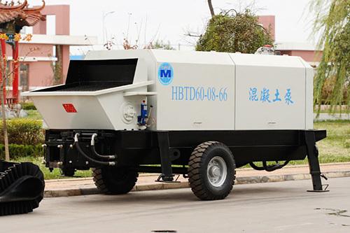 圆友重工HBTD60混凝土柴油机输送泵