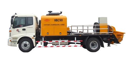 华强京工HBC90混凝土车载泵车高清图 - 外观
