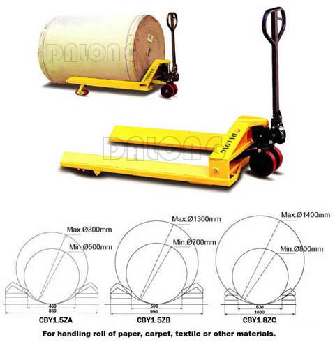 梅狮纸筒型手动搬运车高清图 - 外观