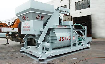 圆友重工JS1500混凝土搅拌机高清图 - 外观