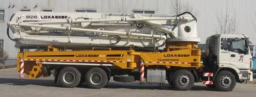 雷萨重机45米泵车