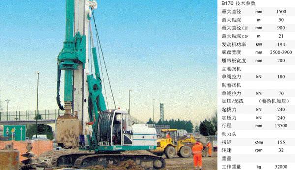卡萨阁蓝地B170全液压旋挖钻机高清图 - 外观