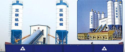 三联机械高铁专用混凝土搅拌站