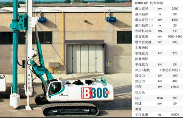 卡萨阁蓝地B300 XP全液压旋挖钻机