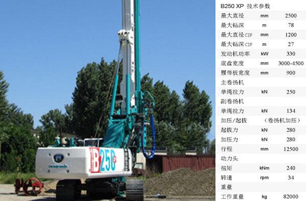 卡萨阁蓝地B250 XP全液压旋挖钻机