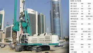 卡萨阁蓝地B400全液压旋挖钻机
