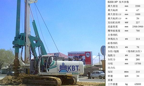 卡萨阁蓝地B200 XP全液压旋挖钻机高清图 - 外观