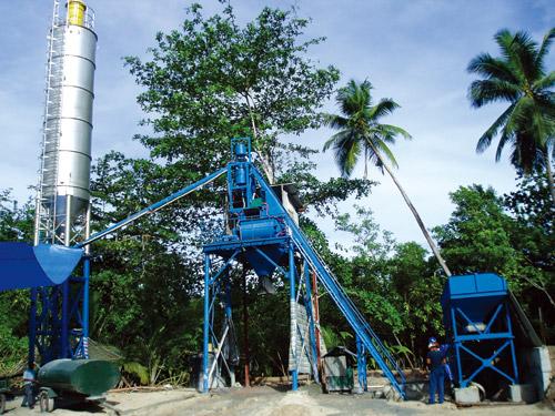 沧田重工JS500-750简易型混凝土搅拌站高清图 - 外观