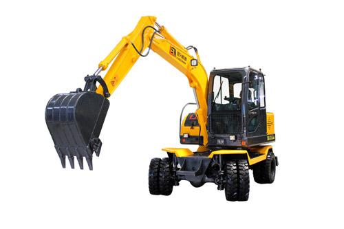 灵升胶轮挖掘机高清图 - 外观