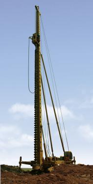 山推樁工SEL26長螺旋鉆孔機