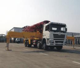 陕汽德龙F3000 8×4 45米泵车高清图 - 外观