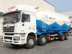 陕汽德龙6×4粉粒物料运输车高清图 - 外观