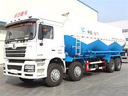 陕汽德龙6×4粉粒物料运输车