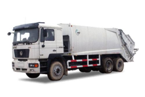 陕汽德龙压缩式垃圾车高清图 - 外观