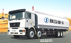 陕汽德龙6×4液罐运输车