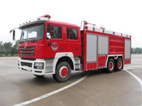 陕汽德龙F3000 10吨泡沫干粉联用消防车高清图 - 外观