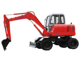 七天阳SSD80-8全液压轮式挖掘机