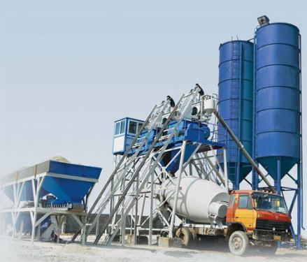 腾飞连体JS500型工程混凝土搅拌站