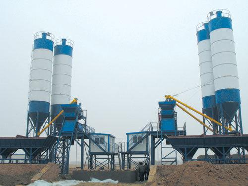 腾飞HZS50型工程混凝土搅拌站