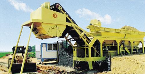 恒兴机械WBSY系列移动式稳定土拌合站