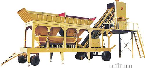 恒兴机械YHZS系列移动式混凝土搅拌站