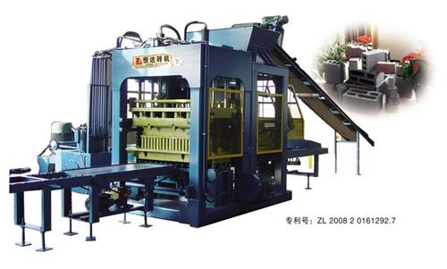 恒达QT10-15/Q12-15型砌块成型机高清图 - 外观