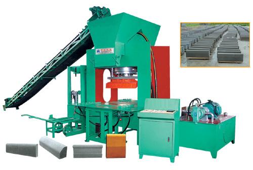 华源机械HY300T型路沿(路面砖液压)成型机砖机