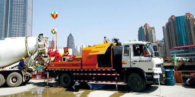 三一重工SY5125THB-9012III车载式混凝土输送泵