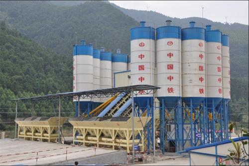 信达机械HZS系列高性能混凝土搅拌站高清图 - 外观