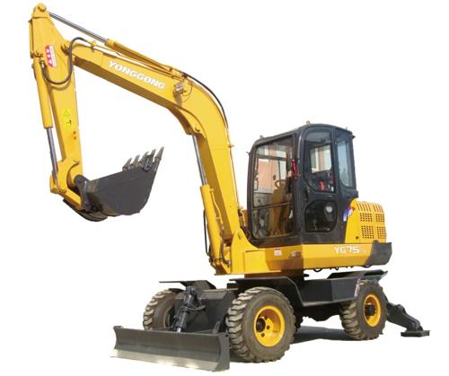 永工YG75-5挖掘机高清图 - 外观