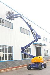 运想重工14米曲臂电动人GTZZ14D高空作业平台
