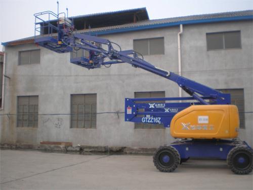 运想重工16米曲臂电动GTZZ16D高空作业平台