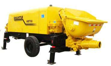 山推HBT60拖式泵高清图 - 外观