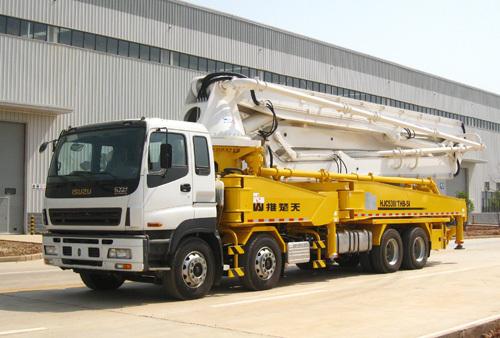 山推HJC5391THB-51米/HJC5410THB-51/HJC5391THB-51C臂架式泵车