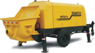 山推HBT6014拖式泵高清图 - 外观
