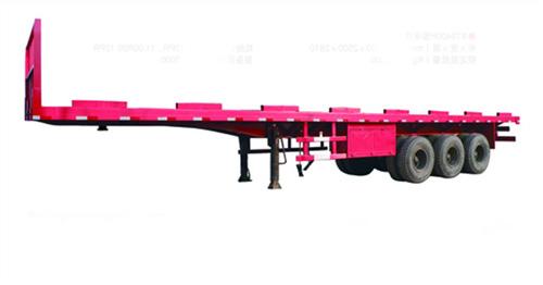 唐鸿重工XT9400P平板半挂车高清图 - 外观