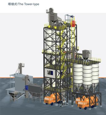 铁拓机械GHX(T)塔楼式干混砂浆生产线