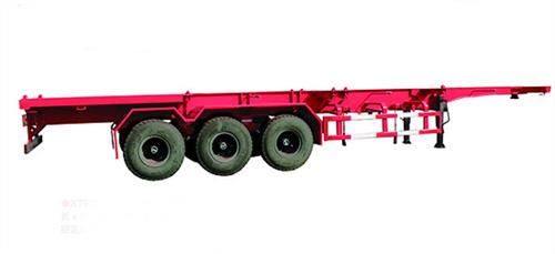 唐鸿重工XT9360TJZG骨架式集装箱半挂车高清图 - 外观