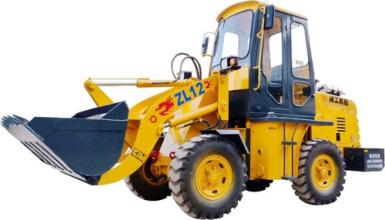 闽工ZL12轮式装载机高清图 - 外观