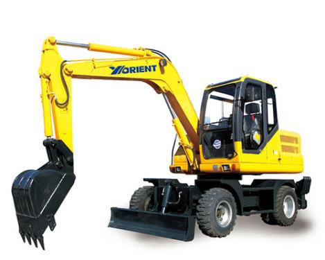 愚公WYL75X2-8轮式挖掘机
