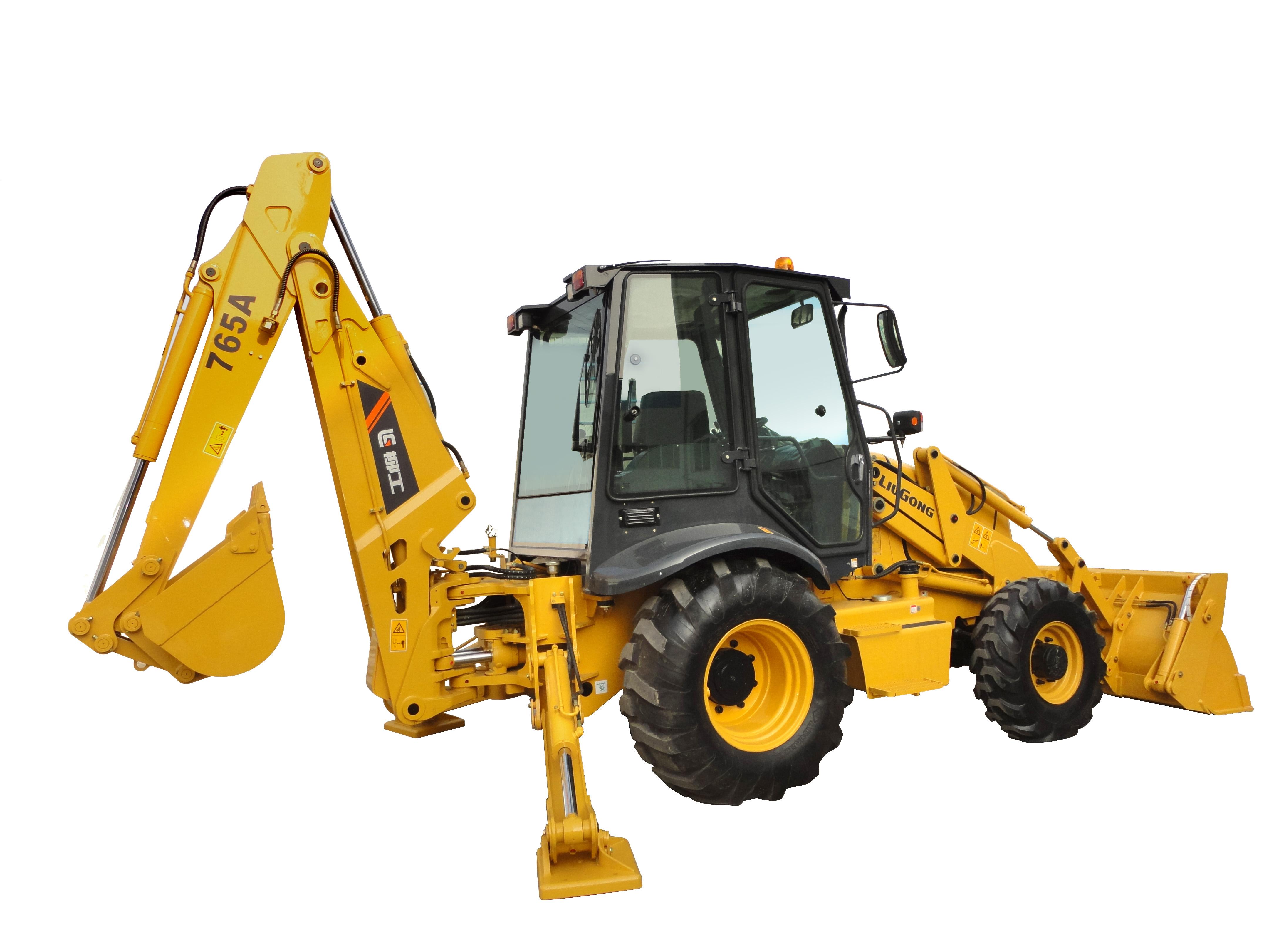 柳工CLG765A挖掘装载机高清图 - 外观